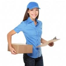 女送货员图片