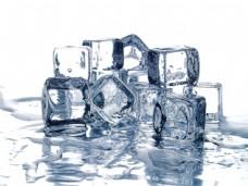 格子冰块图片
