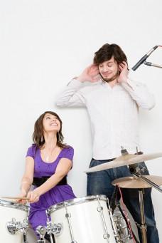 男女音乐组合高清大图图片