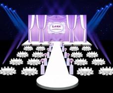 婚礼布幔舞台