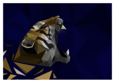 多边形老虎插图
