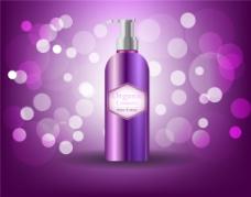 唯美紫色护肤品海报