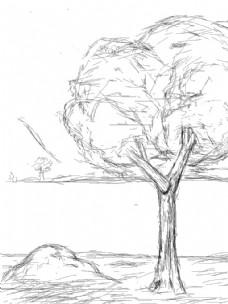线性铅笔画
