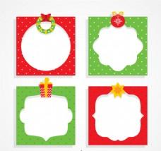 绿色和红色圣诞相框
