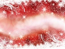 闪光和背景虚化的红色背景