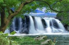 美丽山水装饰画
