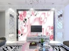 温馨花卉背景墙