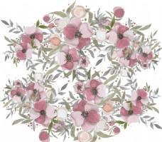 手绘水彩春季花卉花草