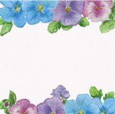 手绘水彩春季花卉