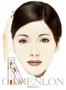 高清大图化妆品商业插画海报
