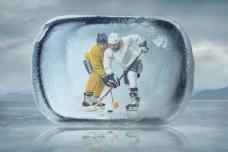 冰块里的运动员图片