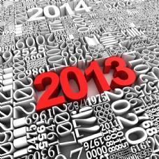 创意2013新年字体图片
