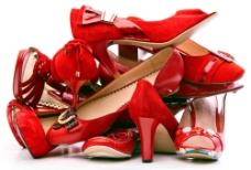 一堆鞋高跟鞋摄影图片