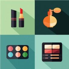 矢量扁平化化妆品图标