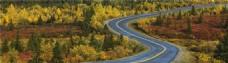 连绵的公路banner背景