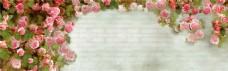 花朵淘宝海报banner背景