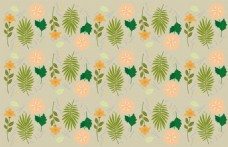 清新手绘植物背景