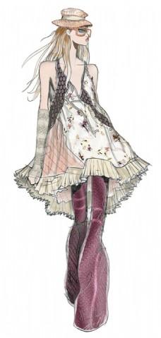 娃娃裙子简单设计图