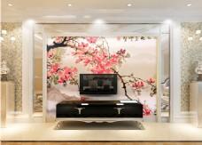 梅花装饰元素背景墙