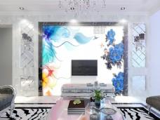 花卉装饰元素背景墙