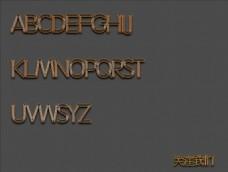时尚字母特效立体效果字