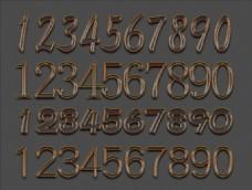 数字立体字
