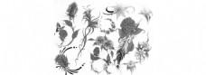 经典花朵笔刷