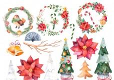 手绘圣诞节插画(16个图层)