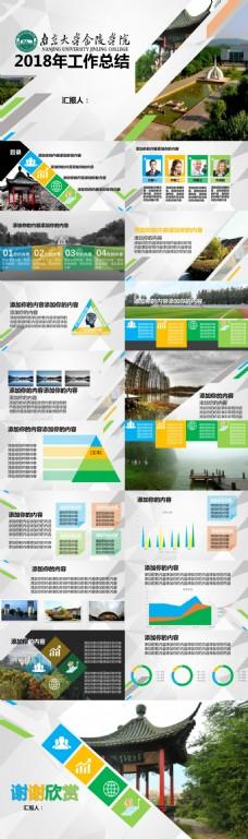 南京大学金陵学院教育教学工作总结报告ppt模板
