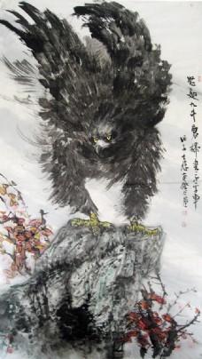 水墨雄鹰图片