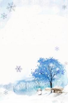 冬季下雪背景
