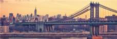 城市风光banner背景