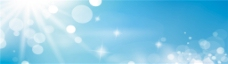梦幻蓝色天空简约背景图