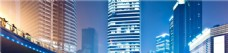 蓝色城市建筑背景