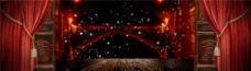 城市灯光banner背景图