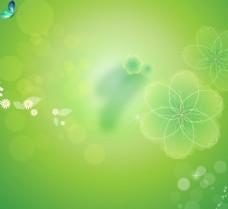 绿色花朵主题背景
