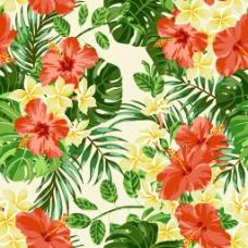 热带花朵底纹