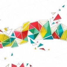 2017三角形创意排列底纹元素H5背景