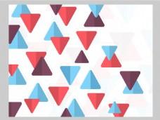 2017创意三角形分布底纹元素H5背景