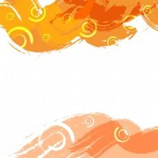 2017橙色创意底纹元素H5背景