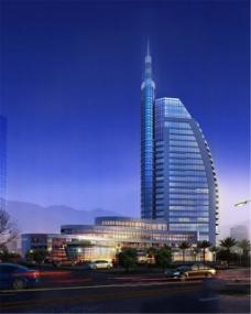 城市高楼建筑效果图