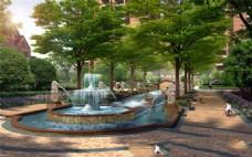 小区喷泉景观
