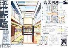 现代书屋空间设计效果图