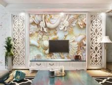 中国龙装饰背景墙