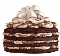 水彩巧克力蛋糕