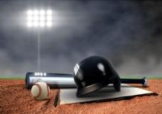 棒球头盔球棍图片