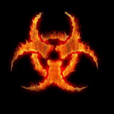 火焰生物危险标志图片