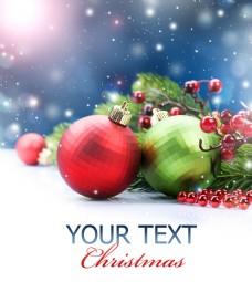 圣诞球海报背景图片