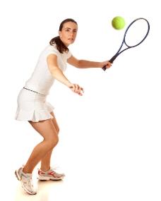 打网球的外国美女图片