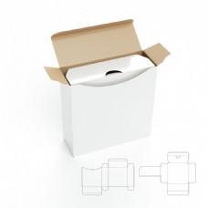 包装盒效果图与展开图图片